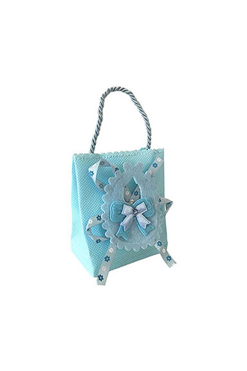 Mavi Baby Shower Şeker Kesesi 12li