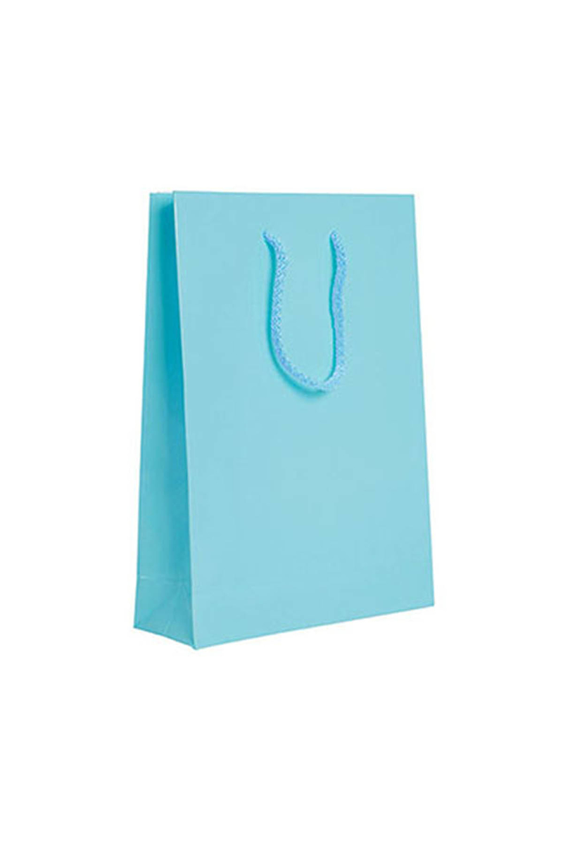 Bebek Mavisi Büyük Karton Çanta 17x25cm 25li