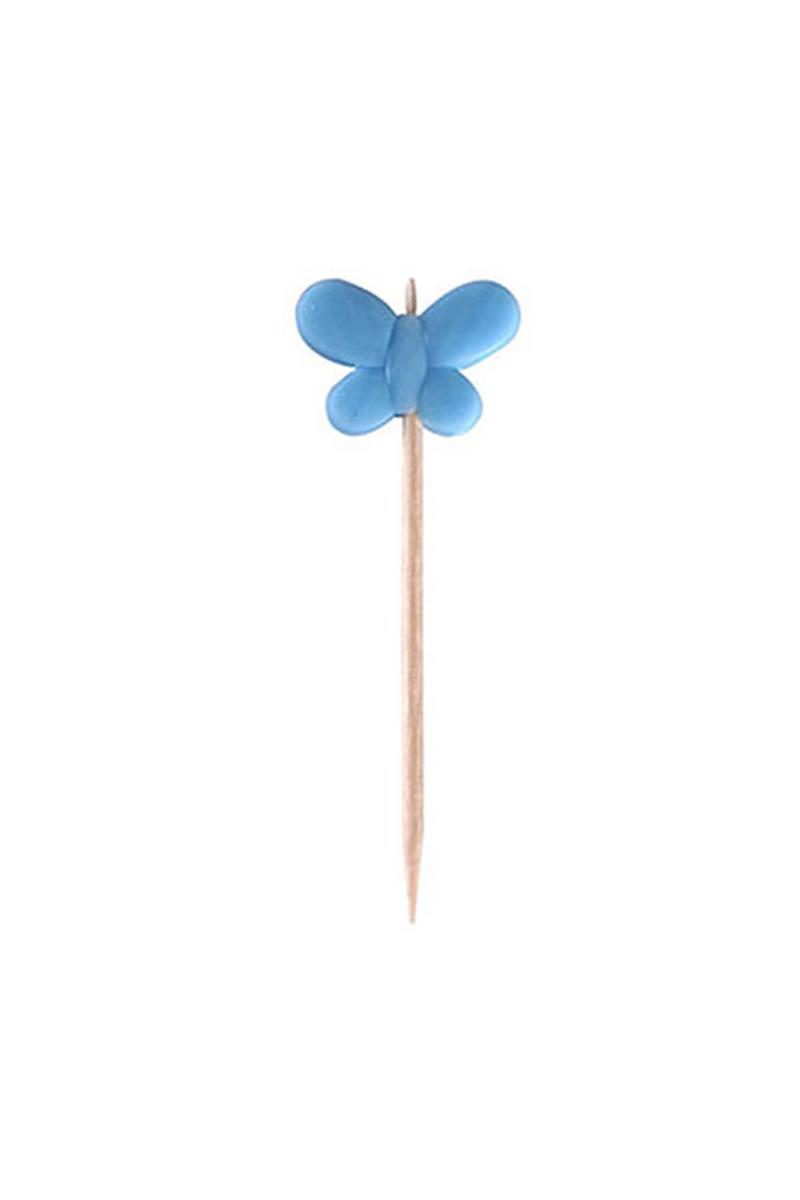Kelebek Kürdan Açık Mavi 6lı - Thumbnail