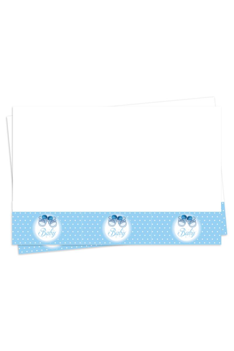 Roll-Up Mavi Patikler Plastik Masa Örtüsü 120x180cm 1 Adet