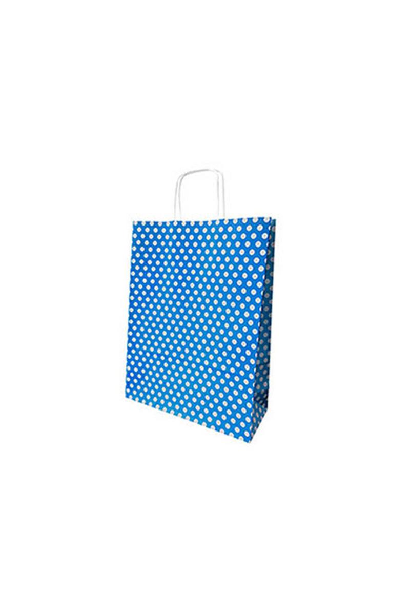 Kraft Çanta Mavi Puantiyeli Küçük 25li