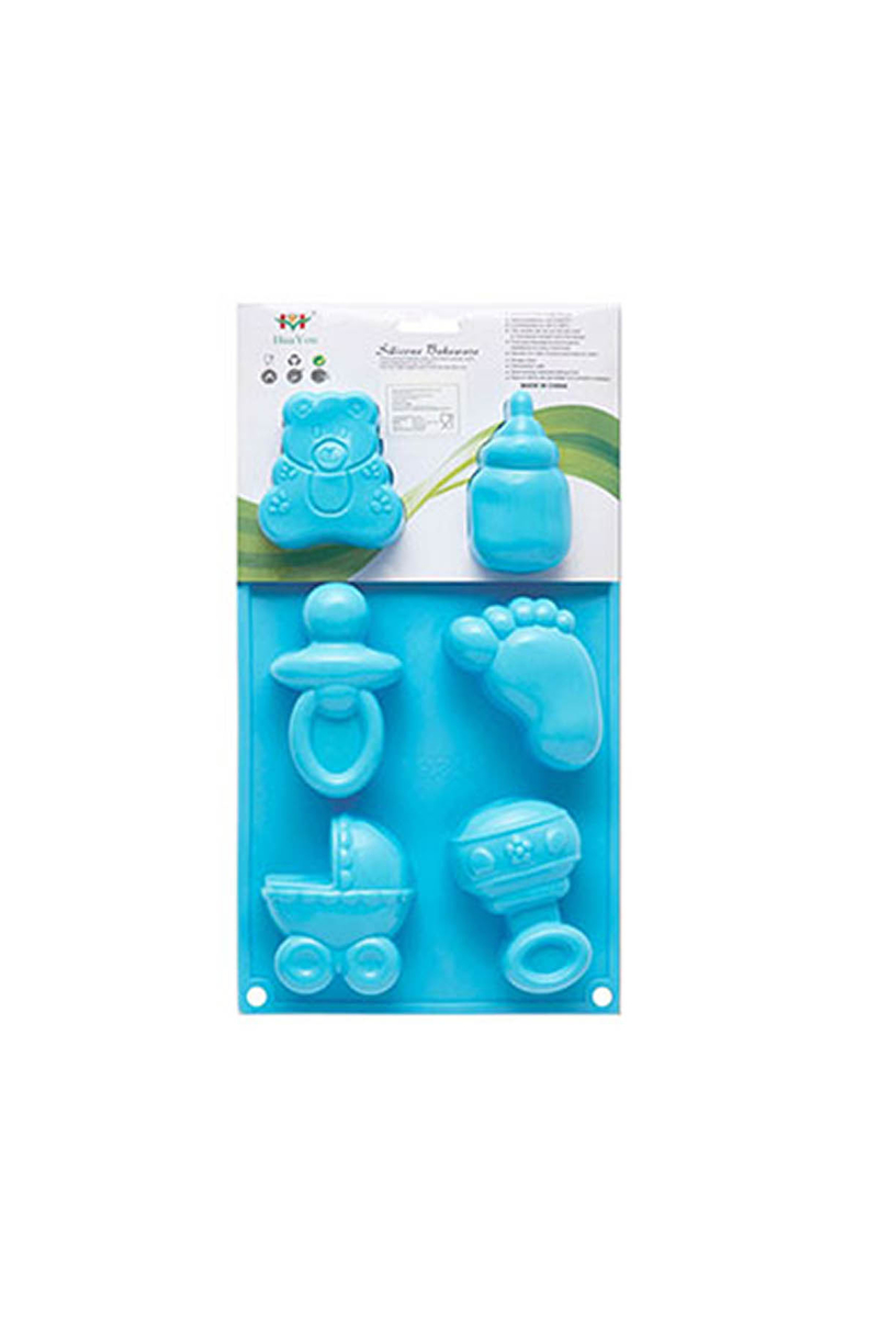 Mavi Silikon Kek Kalıbı 6lı