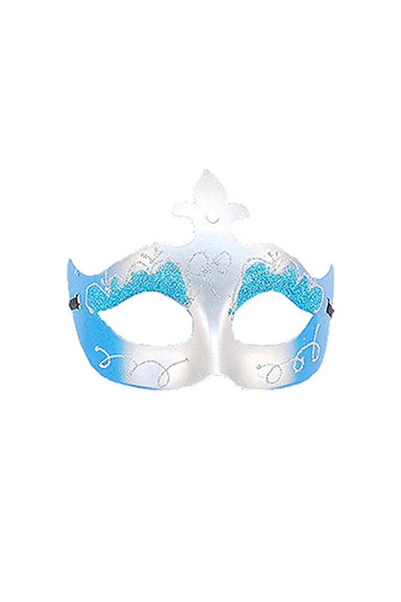 Mavi Simli Balo Maske 1 Adet