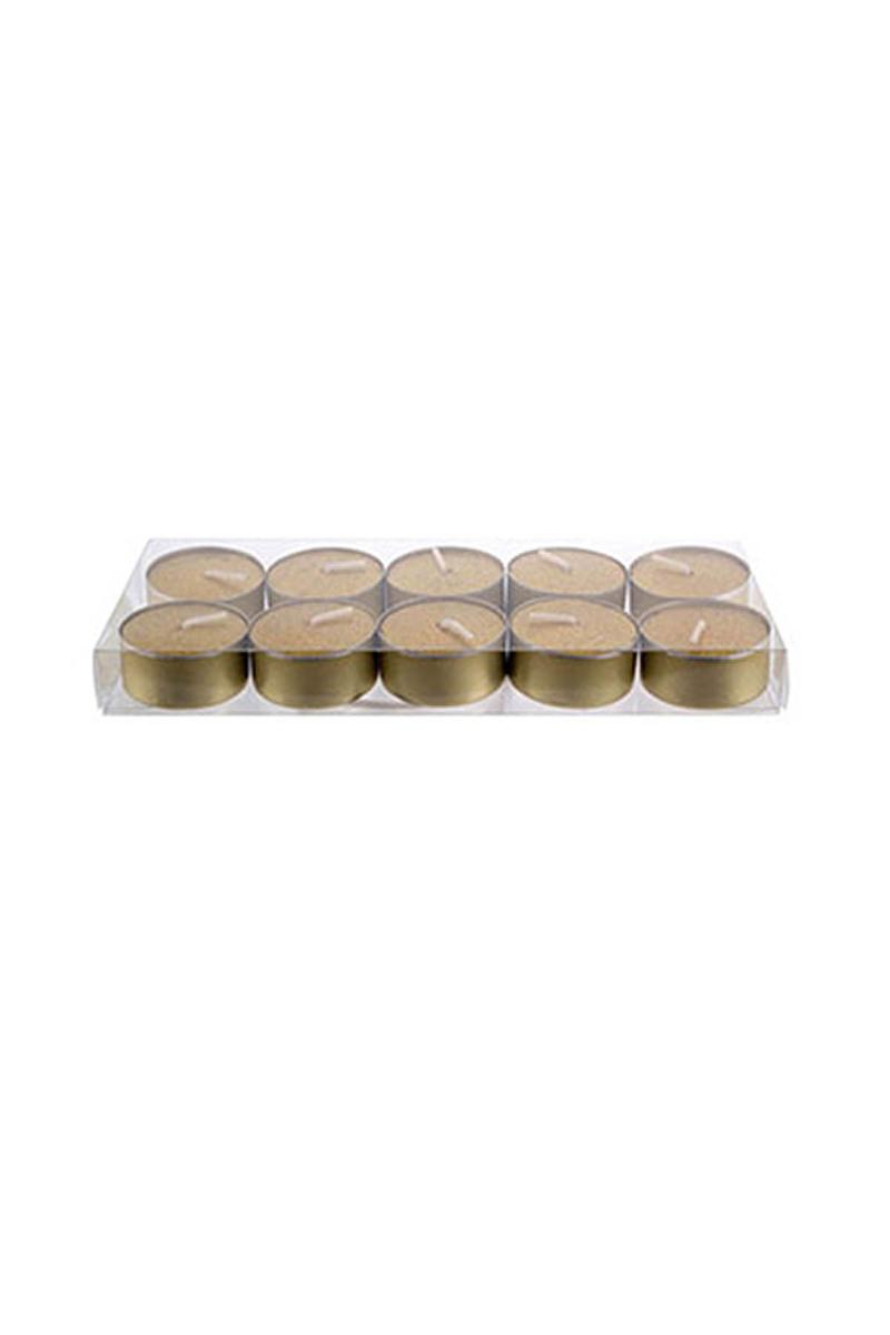 Metalik Altın Tealight Mum 4cm 10lu