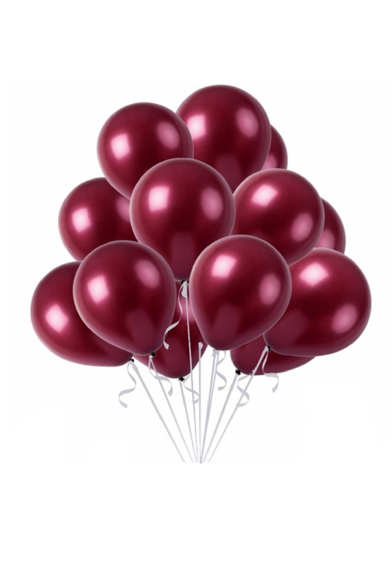 Metalik Bordo Balon 30cm (12 inch) 10lu