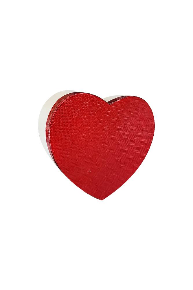 Metalik Kalp Hediye Kutusu 19 x 18 x 8cm 1 Adet - Thumbnail