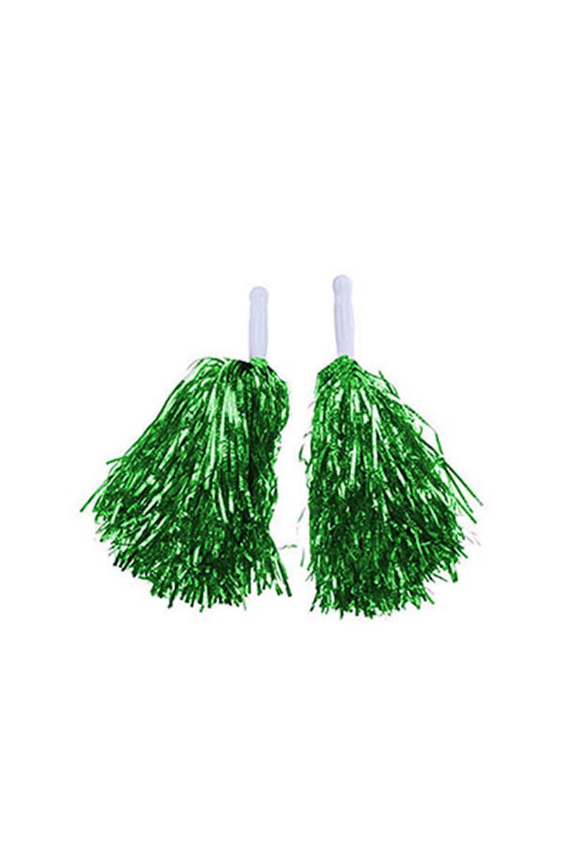Metalik Yeşil Amigo Ponpon 2li