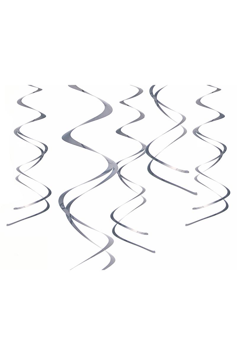 Metalize Gümüş Süs Dalgası 60cm 5li - Thumbnail