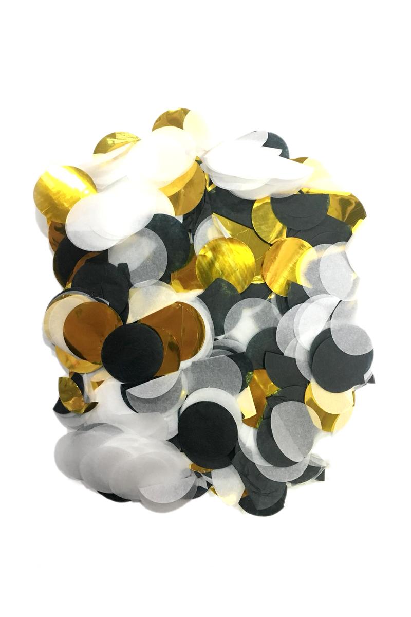 Metalize Siyah-Altın Karışık Balon Konfetisi 10gr