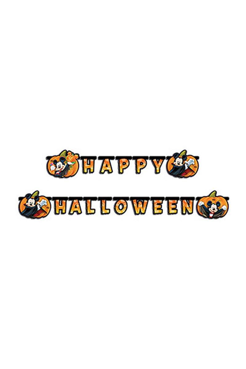 Mickey Happy Halloween Harf Afiş 1 Adet