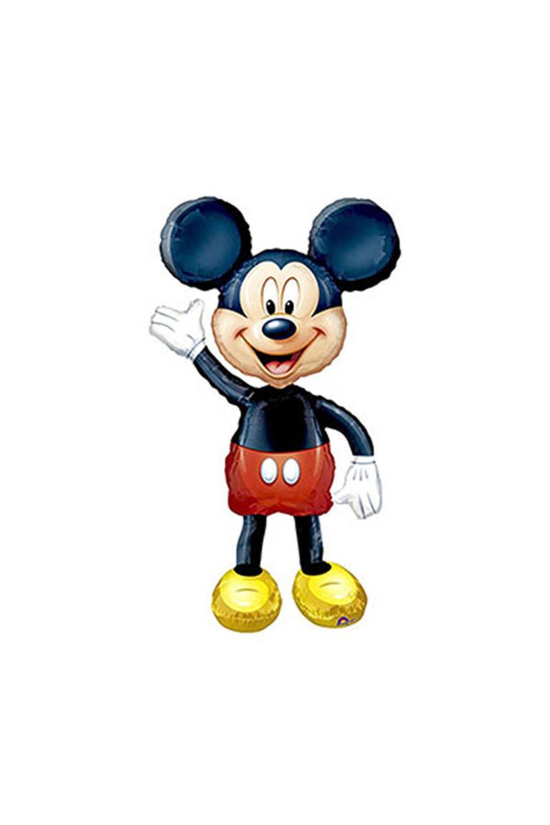 Mickey Mouse Yürüyen Folyo Balon 96cm x 132cm 1 Adet