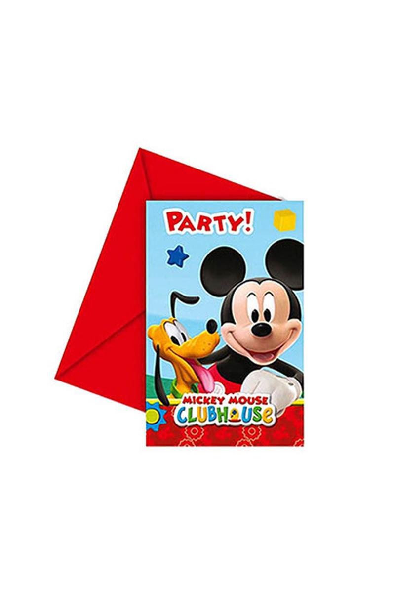 Mickey Playful Davetiye 6lı