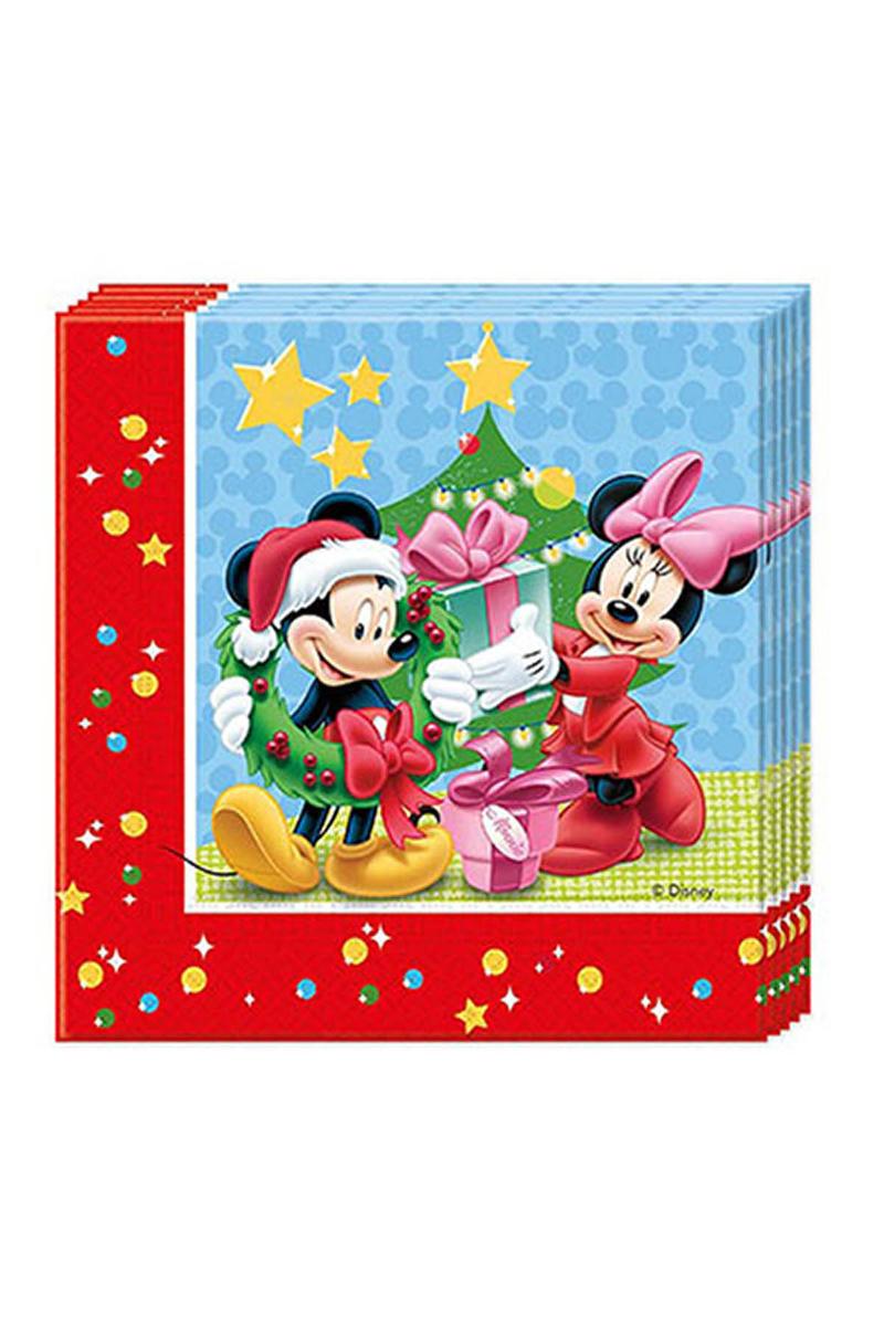 Mickey Yılbaşı Kağıt Peçete 33x33cm 20li