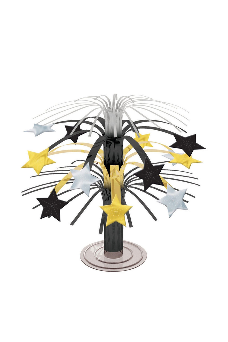 Mini Altın Gümüş Yıldız Orta Süs 1 Adet