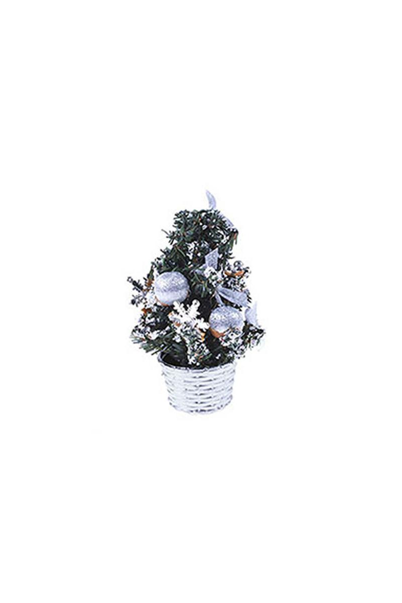 Mini Gümüş Yılbaşı Çam Ağacı 20cm 1 Adet