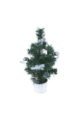 Mini Gümüş Yılbaşı Çam Ağacı 30 cm
