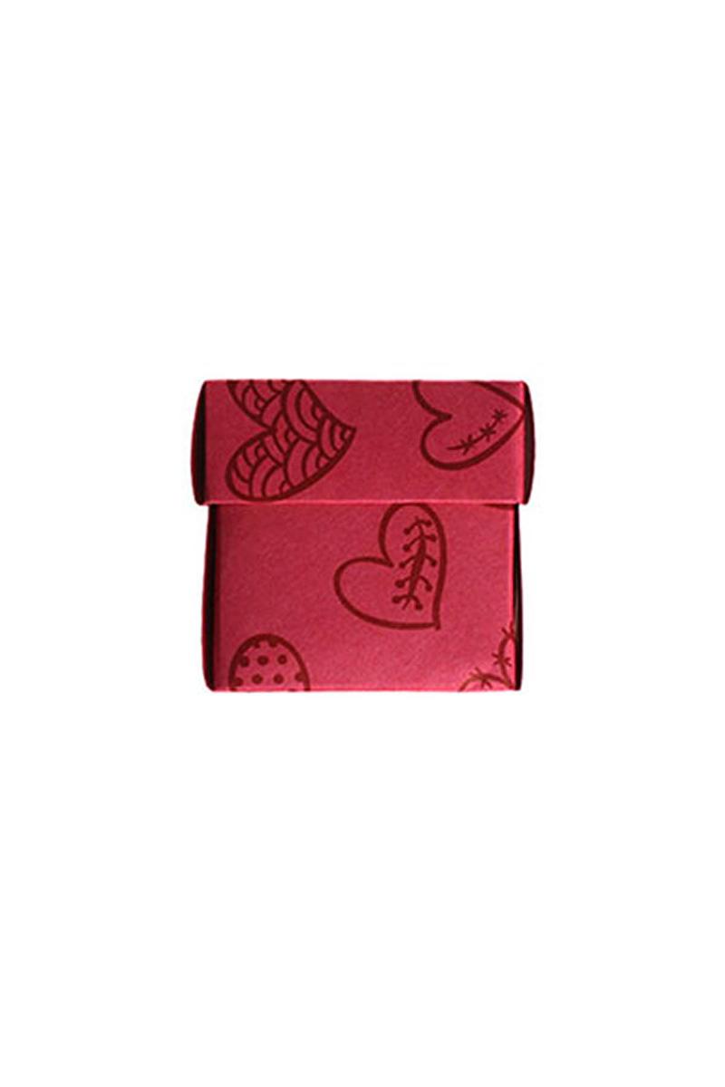 Mini Kalpli Kırmızı Kutu 10lu