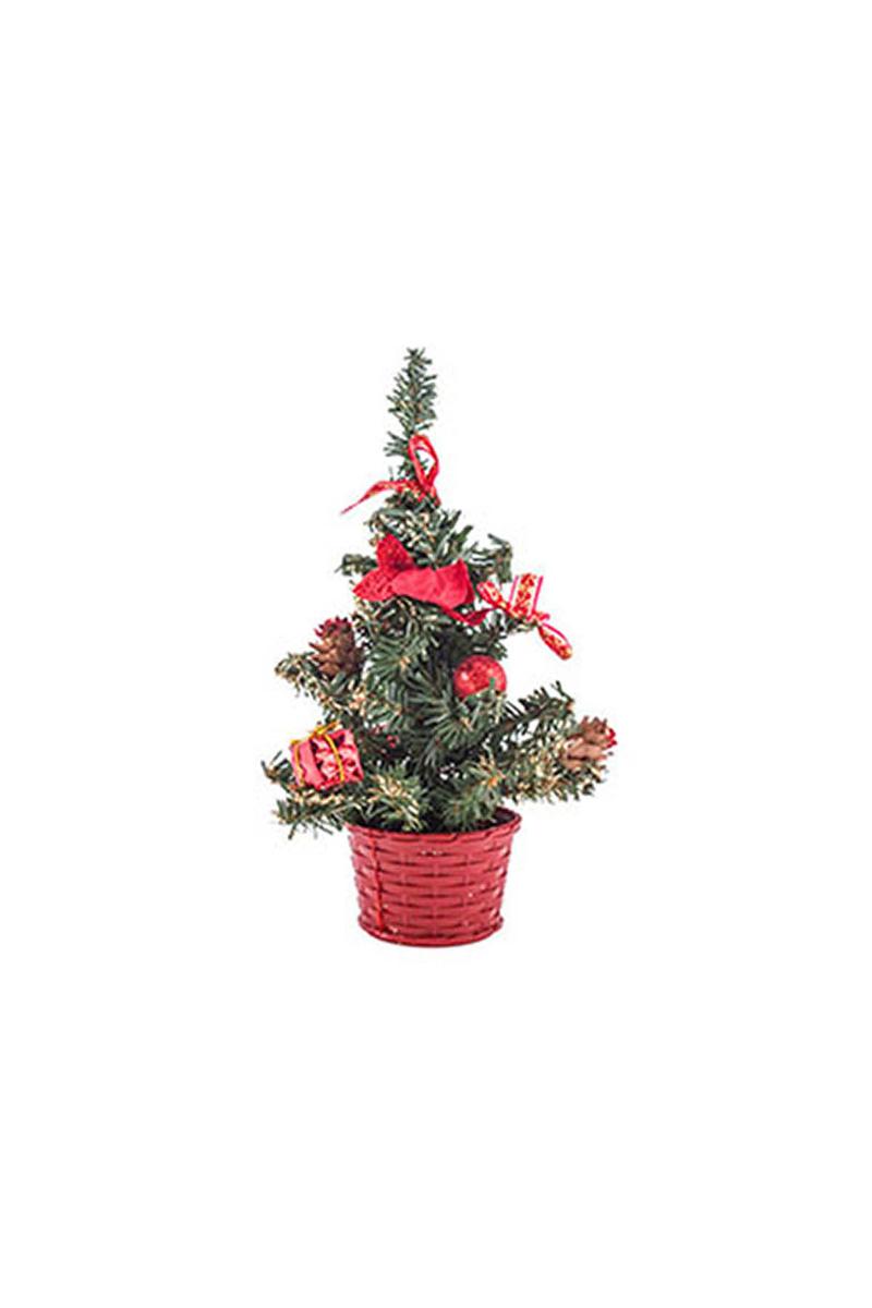 Mini Kırmızı Yılbaşı Çam Ağacı 20cm 1 Adet