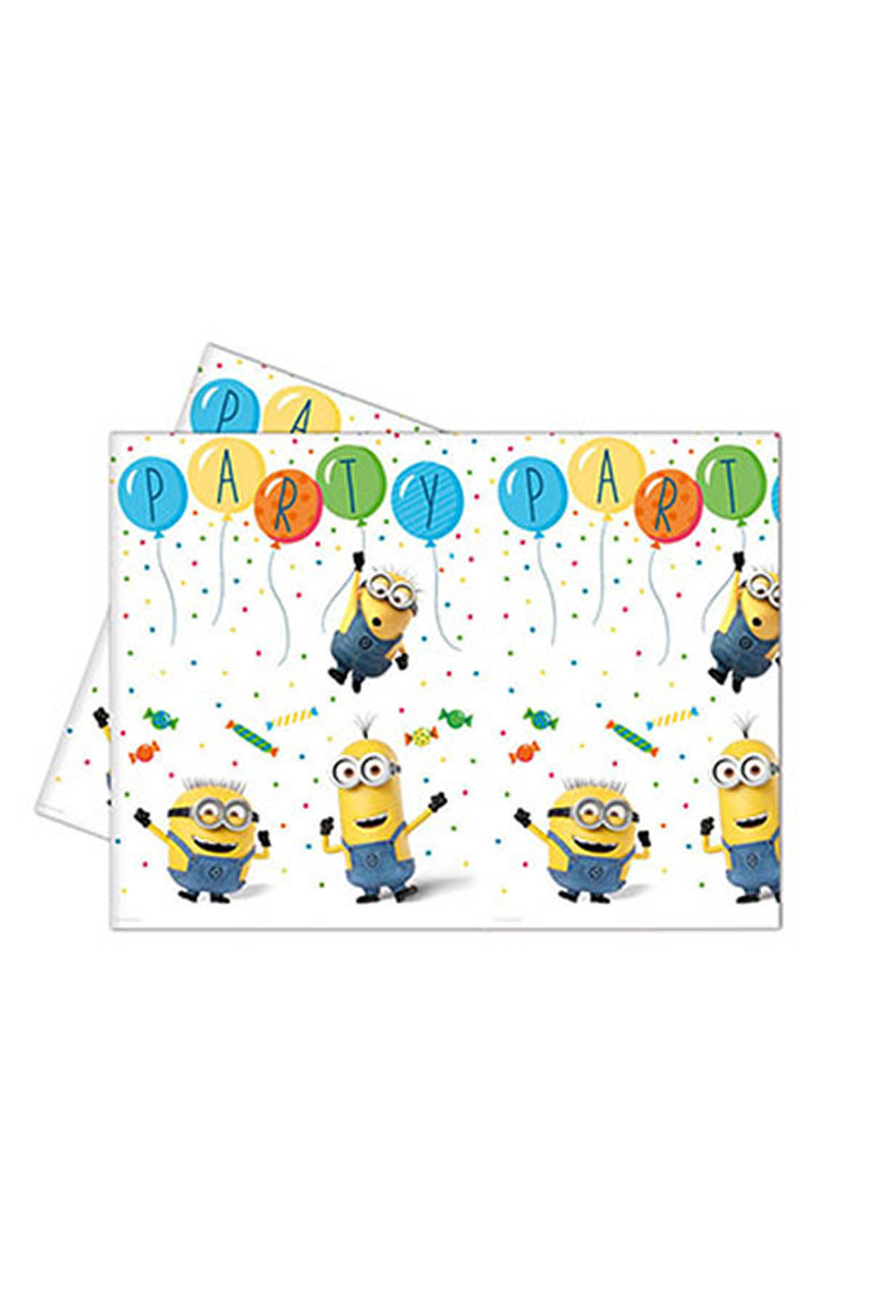 Minion Balon partisi Plastik Masa Örtüsü 120x180cm 1 Adet