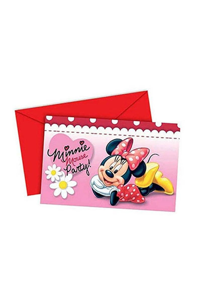 Minnie Daisies Davetiye 6lı