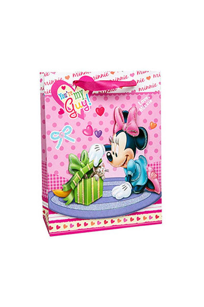 Minnie 3D Simli Karton Çanta 17x25cm 12li