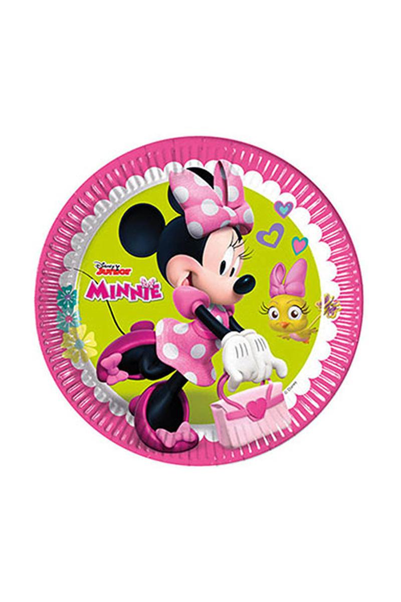 Minnie Mutlu Arkadaşlar Kağıt Tabak 23cm 8li
