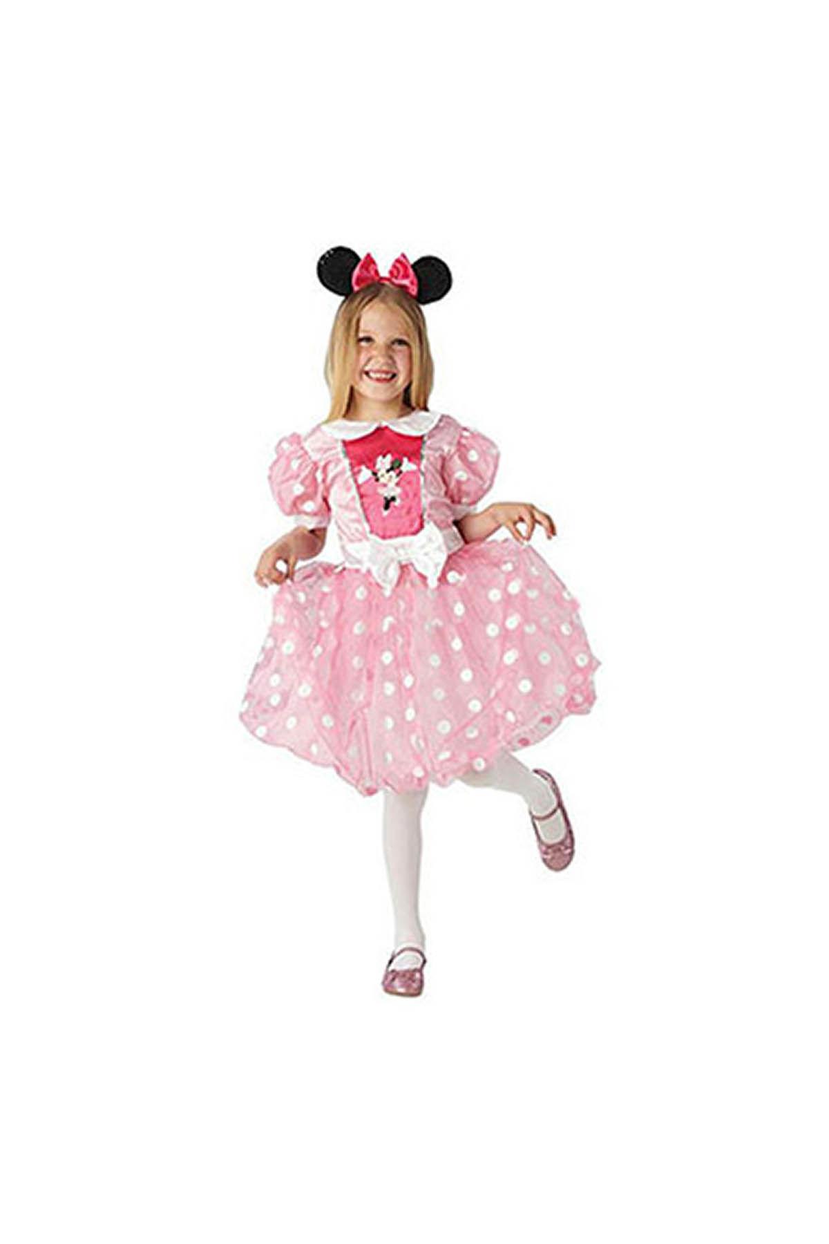 Minnie Pembe Kostüm Glitz 5-6 Yaş