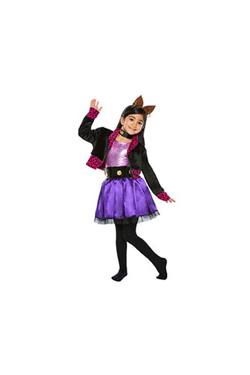 Monster High Clawdeen Kostüm 4-6 Yaş 1 Adet