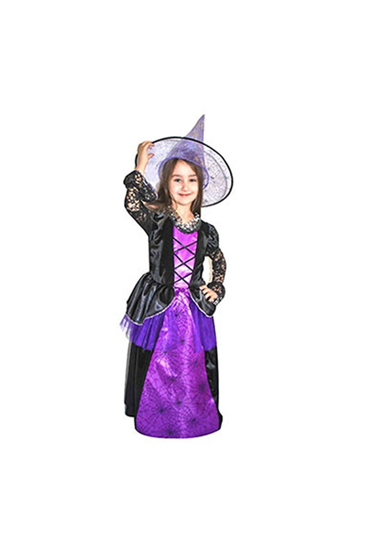 Mor Cadı Kostüm 4-6 Yaş