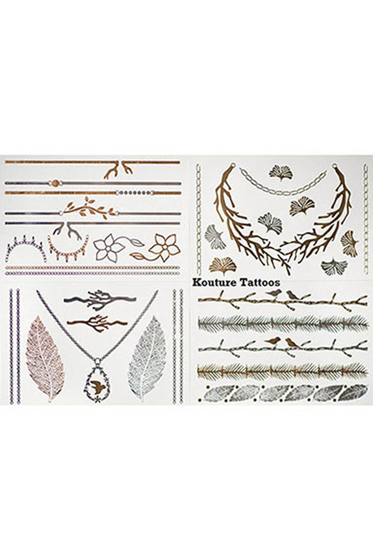 Mücevher Görünümlü Geçici Dövme (Dolce Vita)