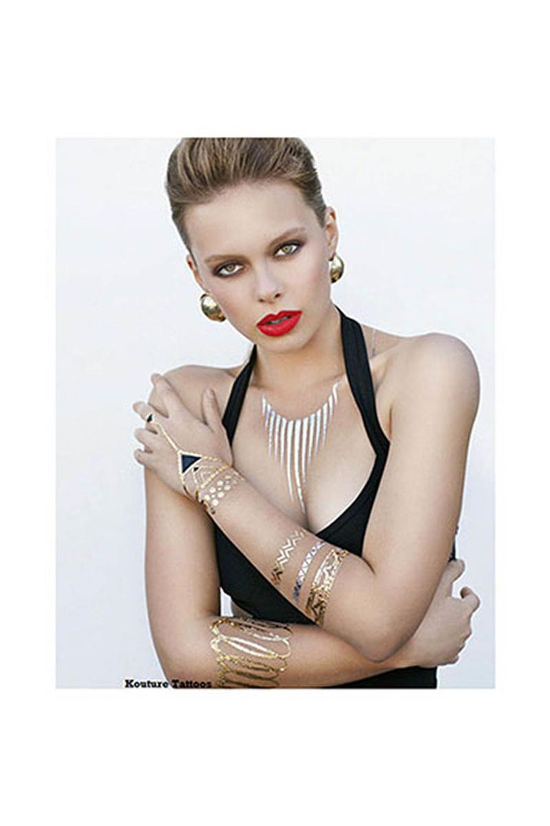 Mücevher Görünümlü Geçici Dövme (Forever Yasmin) 4lü - Thumbnail