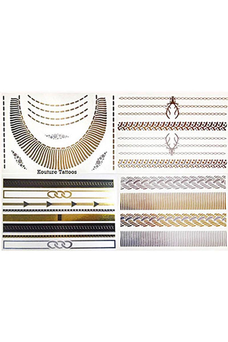 Mücevher Görünümlü Geçici Dövme (Scene Setter) 4lü - Thumbnail