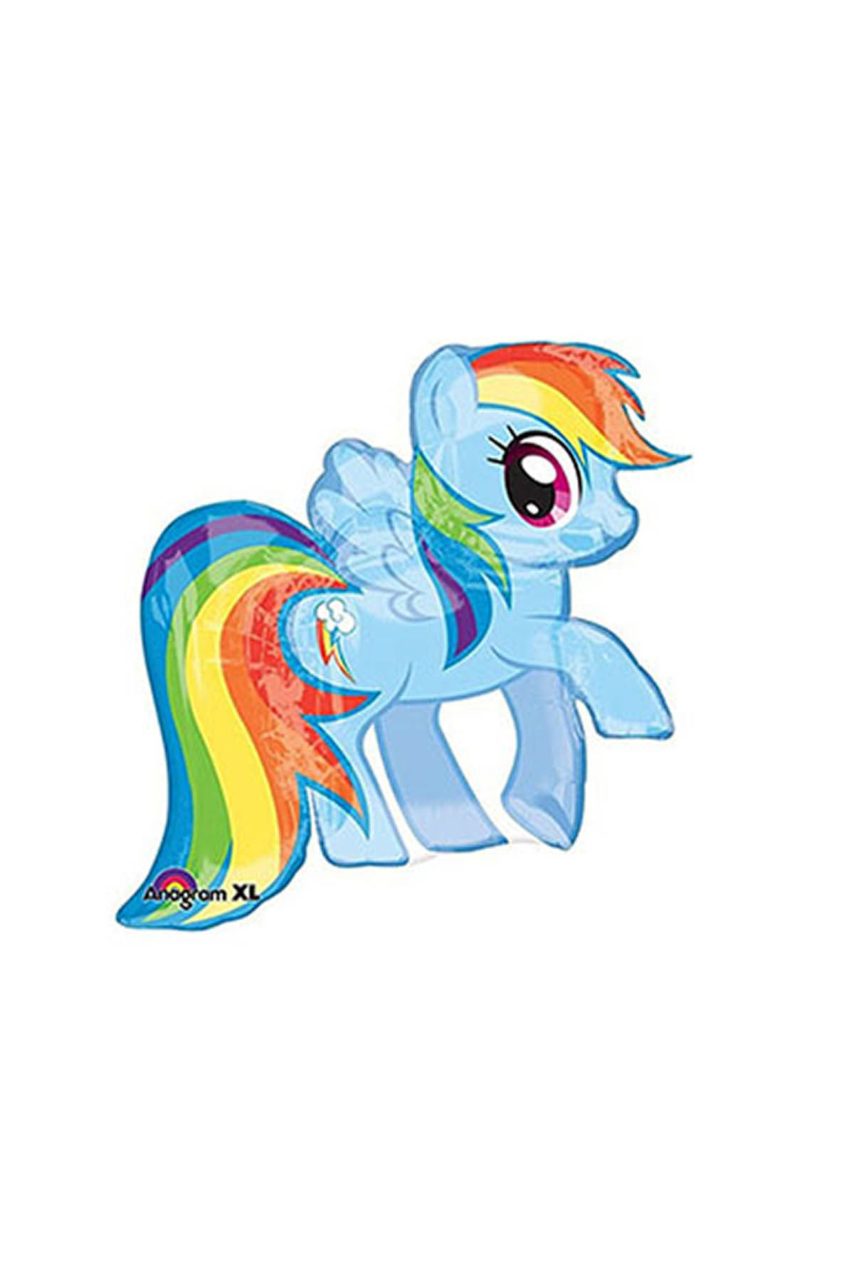 My Little Pony Rainbow Dash SuperShape Folyo Balon 71x68