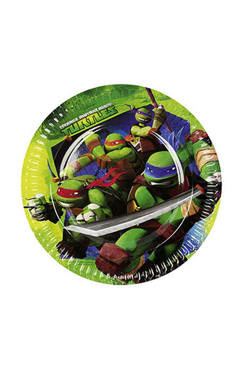 Ninja Turtles Kağıt Tabak 23cm 8li