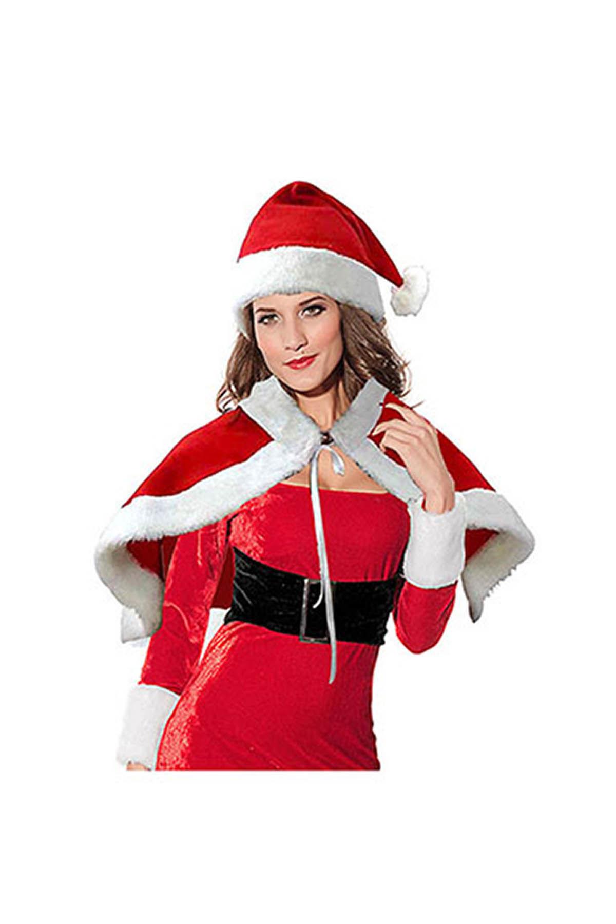 Noel Anne Pelerin ve Şapka Polar Set