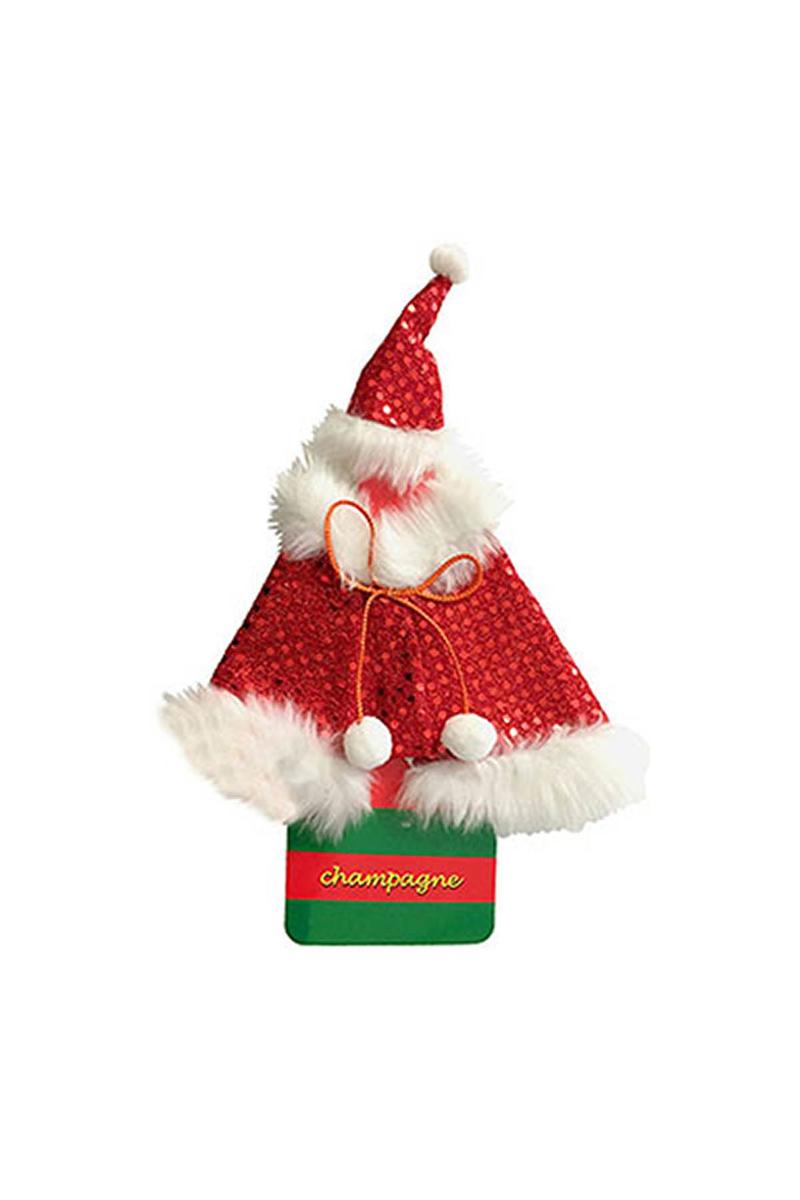 Noel Baba Etekli Şişe Kostümü 1 Adet