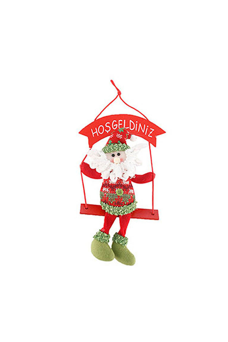Noel Baba Hoşgeldiniz Duvar Süs Yılbaşı Hediyesi 1 Adet