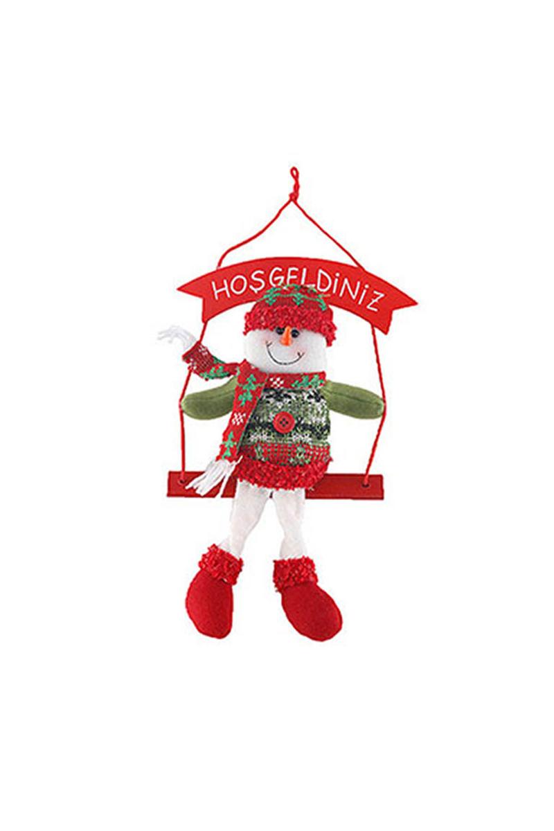Noel Baba Hoşgeldiniz Duvar Süs Yılbaşı Hediyesi 1 Adet - Thumbnail