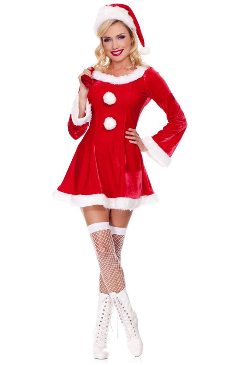 Lüks Kadife Noel Anne Yetişkin Kostüm 1 Adet