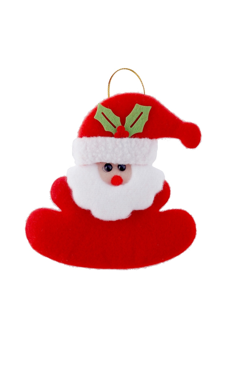 Noel Baba Peluş Asma Süs - Thumbnail