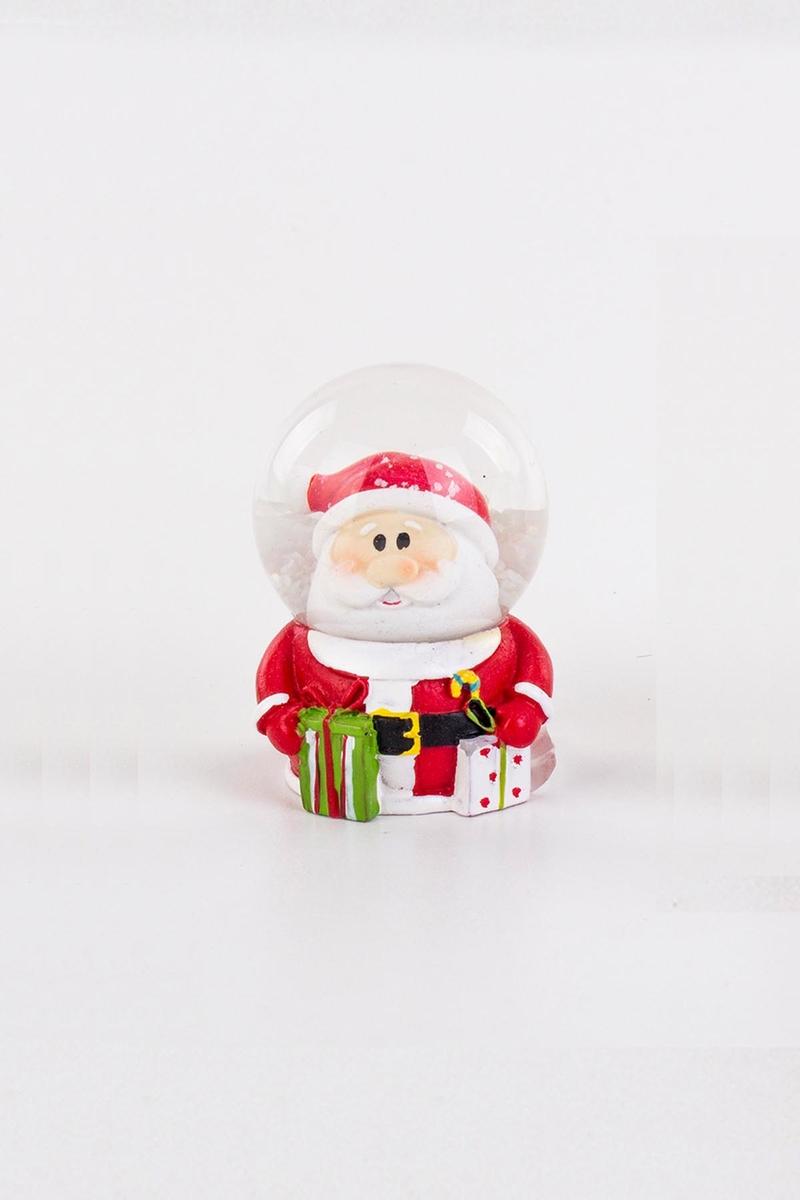 Noel Baba Şekilli Kar Küresi Yılbaşı Hediyesi 5x7cm 1 Adet