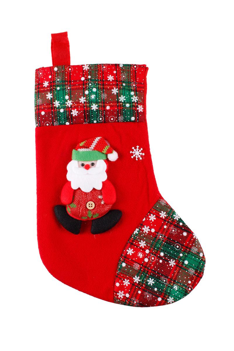 Noel Baba Yılbaşı Renkleri Yılbaşı Çorabı 35cm 1 Adet