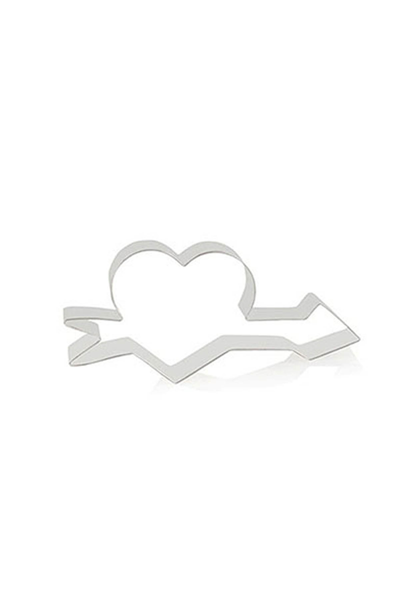 Oklu Kalp Metal Kurabiye Kalıbı 1 Adet