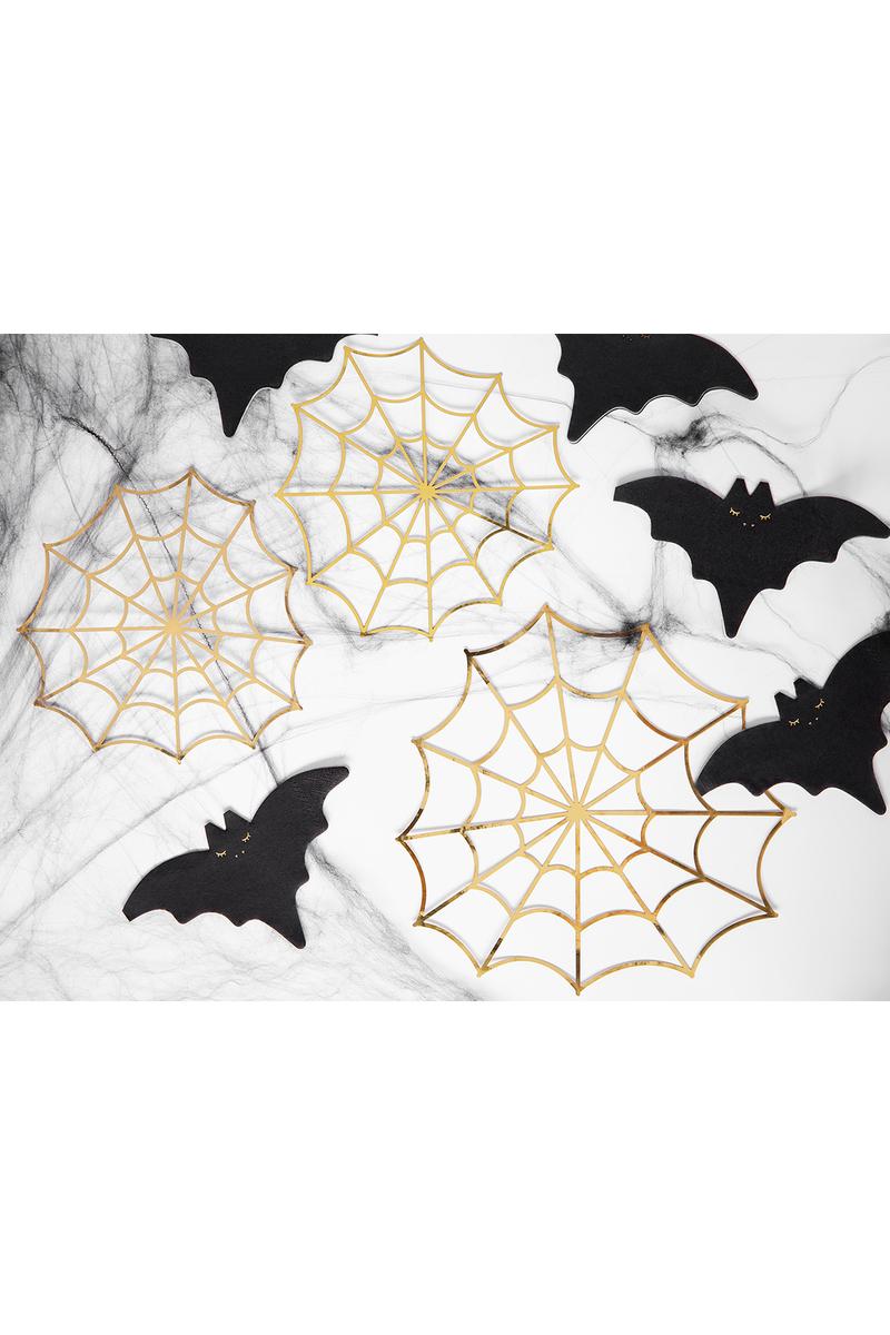 Örümcek Ağı Metalize Kağıt Dekor Süs Seti 3lü - Thumbnail