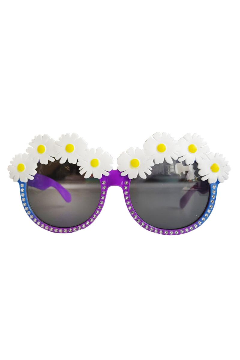 Papatyalı Gözlük Renkli 1 Adet - Thumbnail