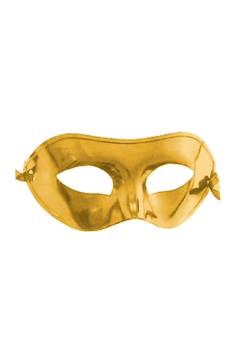 Parlak Balo Maske Altın 1 Adet