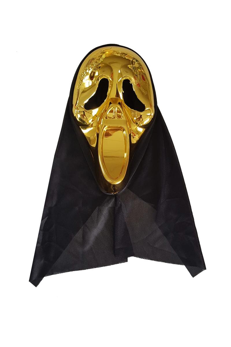 Pelerinli Çığlık Maske Altın 1 Adet