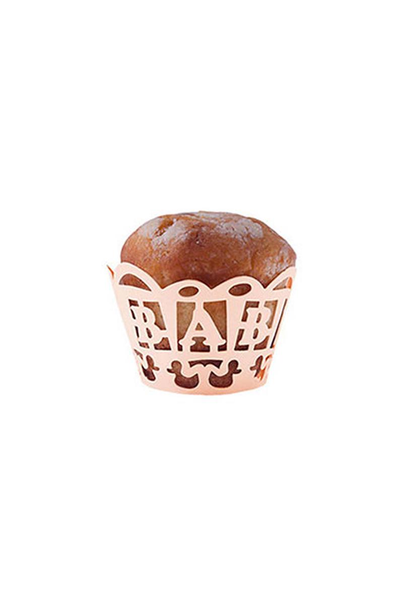 Pembe Baby Kek Tacı 12 Adet