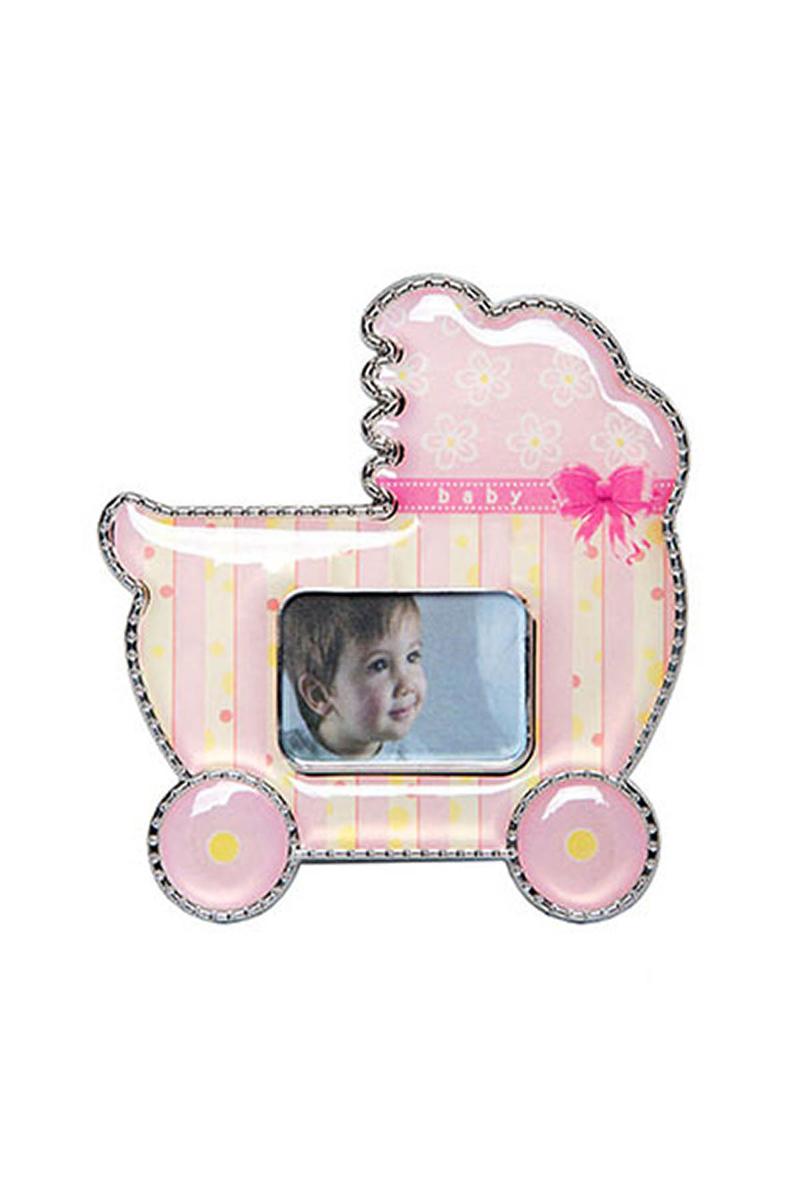 Pembe Bebek Arabası Hediyelik Magnetli Çerçeve 1 Adet