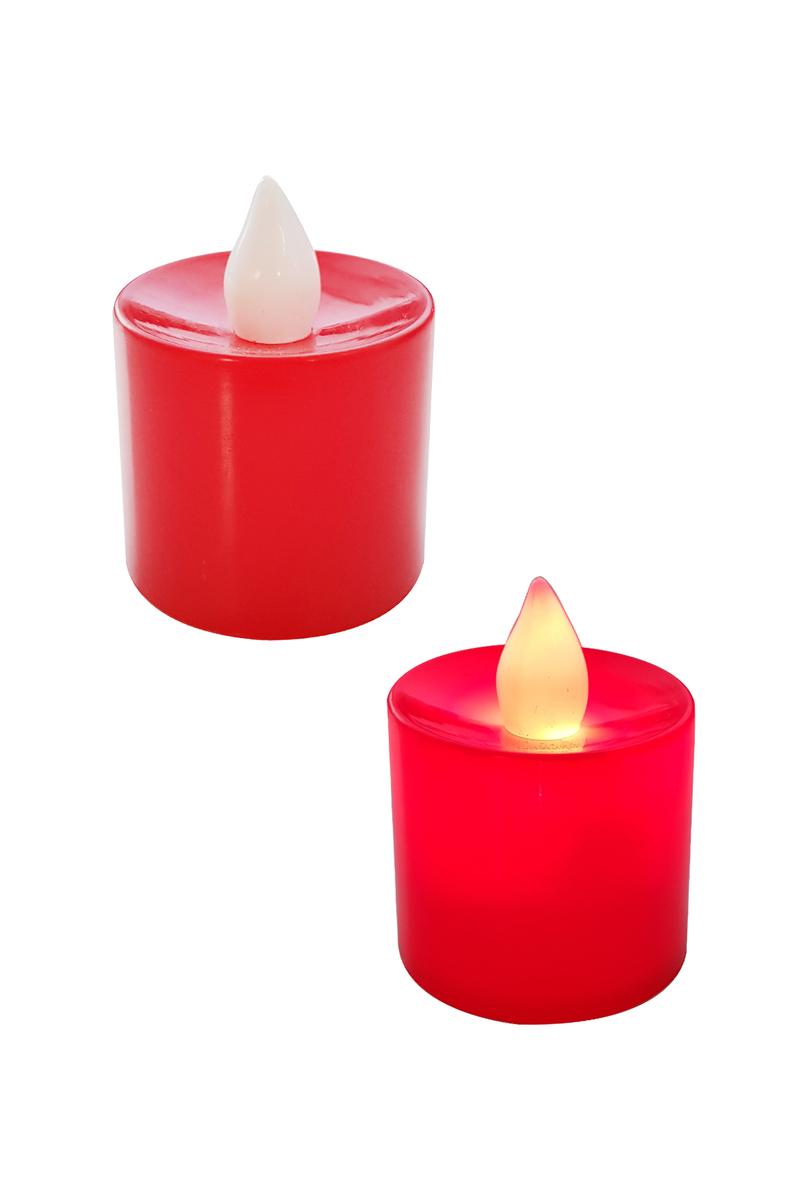 Pilli Işıklı Kırmızı Led Mum 3,5x4cm 1 Adet